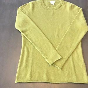 J.Crew 100% cashmere sweater. Small, olive.